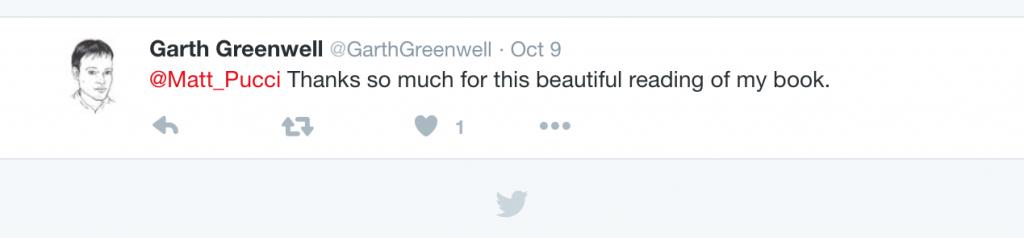 Garth Greenwell Tweet